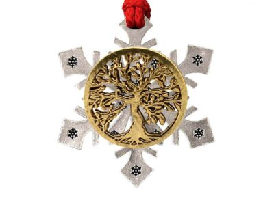 Tree Of Life Snowflake Ornament