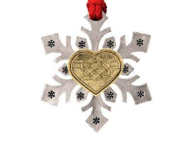 Heart With Celtic Knot Snowflake Ornament