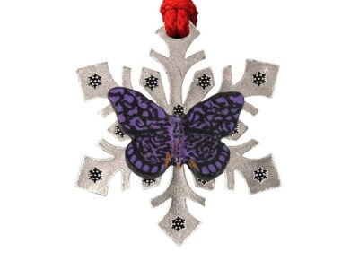 Monarch Butterfly Snowflake Ornament
