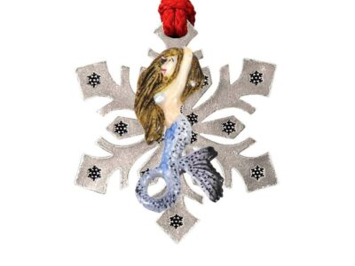 Mermaid Premium Snowflake Ornament
