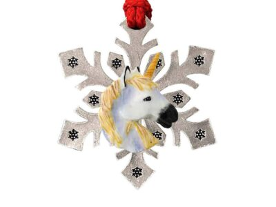 Unicorn Head Snowflake Ornament