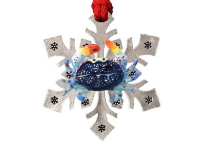 Dungeness Crab Snowflake Ornament
