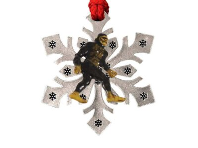 Sasquatch (Bigfoot) Full Body Snowflake Ornament