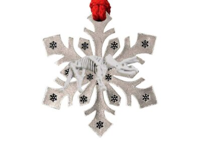 Triceratops Fossilized Head Snowflake Ornament