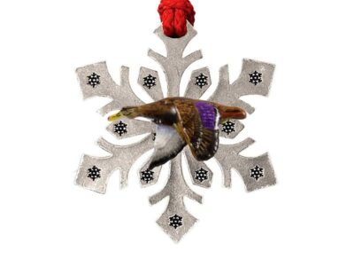 Black Duck Bird Snowflake Ornament