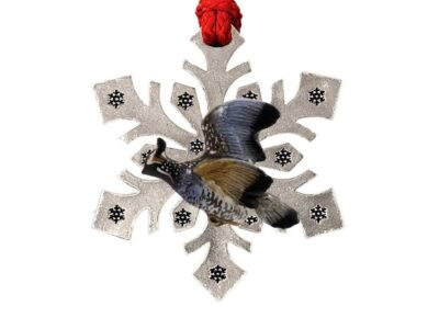 California Quail Snowflake Ornament