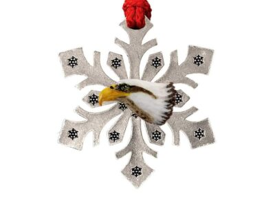 Bald Eagle Head Snowflake Ornament