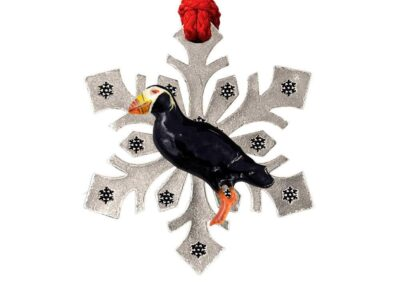 Atlantic Common Puffin Bird Snowflake Ornament