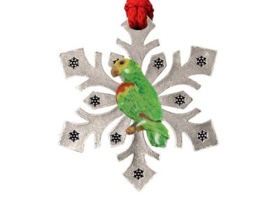 Amazon Parrot Snowflake Ornament