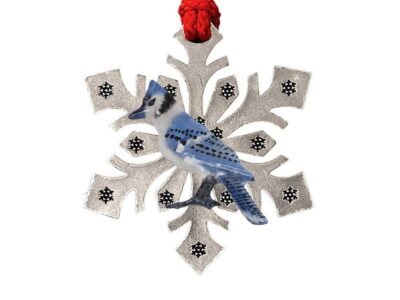 Blue Jay Snowflake Ornament