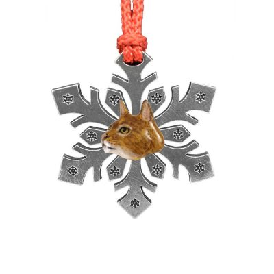Abyssinian Cat Snowflake Ornament