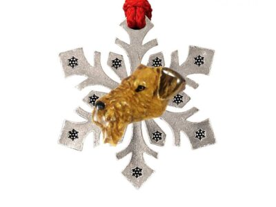 Airedale Snowflake Ornament