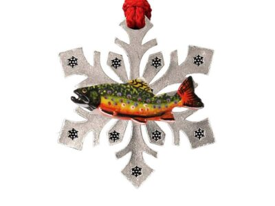 Brook Trout Curved Snowflake Ornament