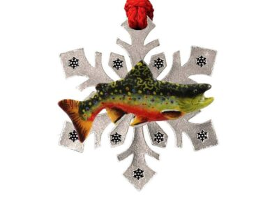 Brook Trout Large Snowflake Ornament