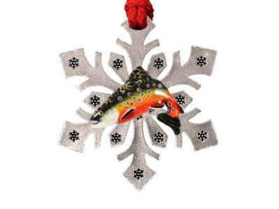 Brook Trout Snowflake Ornament