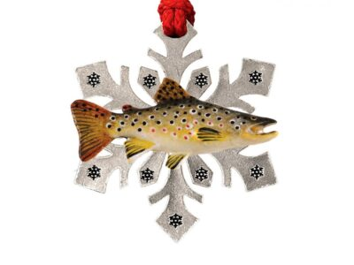 Brown Trout Small Snowflake Ornament