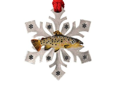 Brown Trout Snowflake Ornament
