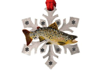 Brown Trout Large Snowflake Ornament