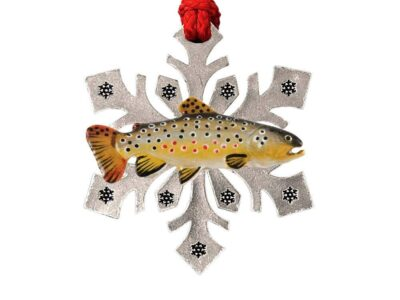 Brown Trout Curved Snowflake Ornament