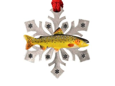Apache Trout Snowflake Ornament