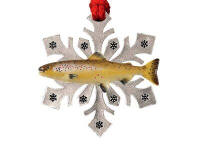 Atlantic Salmon Snowflake Ornament