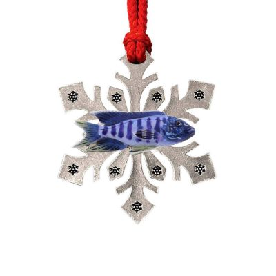 African Cichlid Snowflake Ornament