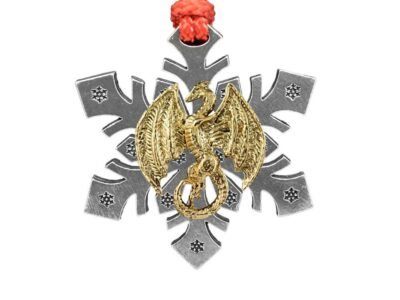 Dragon Flying Snowflake Ornament