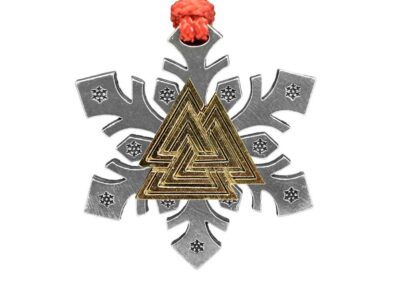 Valknut / Viking Trianges Snowflake Ornament