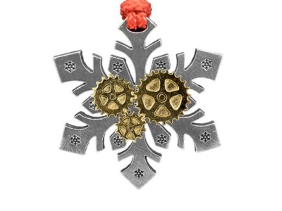 Three Gears Snowflake Ornament