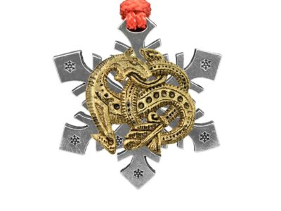 Viking Dragon Snowflake Ornament