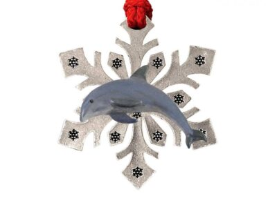 Bottle-Nosed Dolphin Snowflake Ornament