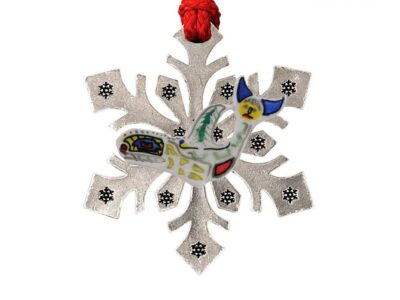 First People Native Orca Snowflake Ornament