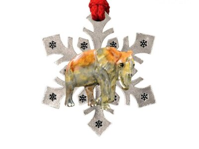 African Elephant New Snowflake Ornament
