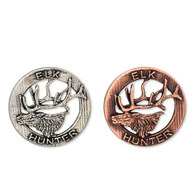 Elk Hunter Retro Pin