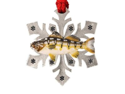 Calico Bass Snowflake Ornament