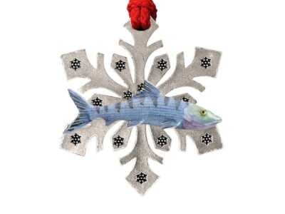 Bonefish Snowflake Ornament
