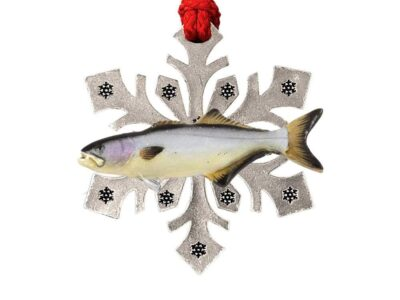 Bluefish Small Snowflake Ornament