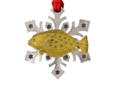 California Halibut Snowflake Ornament