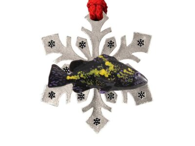 As China Rockfish Snowflake Ornament