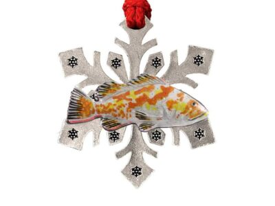 As Copper Rockfish Snowflake Ornament