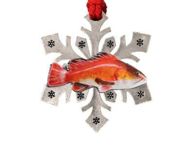 As Red Snapper Snowflake Ornament