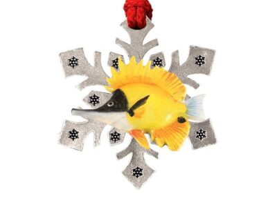 Butterfly Fish Snowflake Ornament