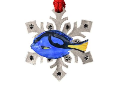 Blue Tang Snowflake Ornament