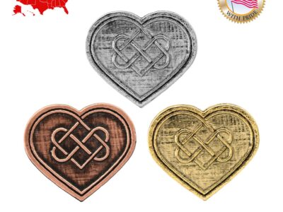 Heart With Celtic Knot Magnet