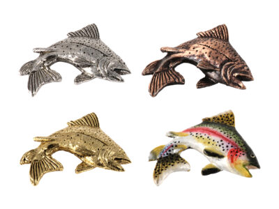 Rainbow Trout Leaping Right Premium Magnet