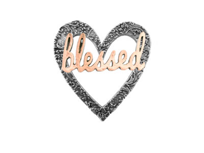 """Blessed"" Heart Pin"
