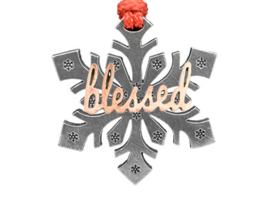 """Blessed"" Snowflake Ornament"