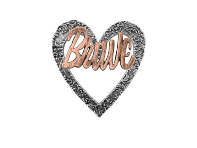 """Brave"" Heart Pin"