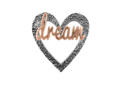 """Dream"" Heart Pin"