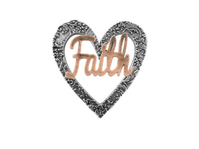 """Faith"" Heart Pin"